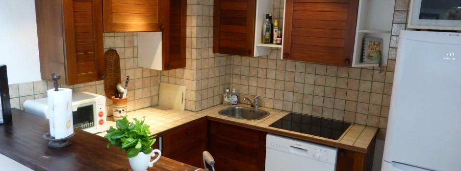 Super funktionelt åbent køkken - Udlejning-nice.dk